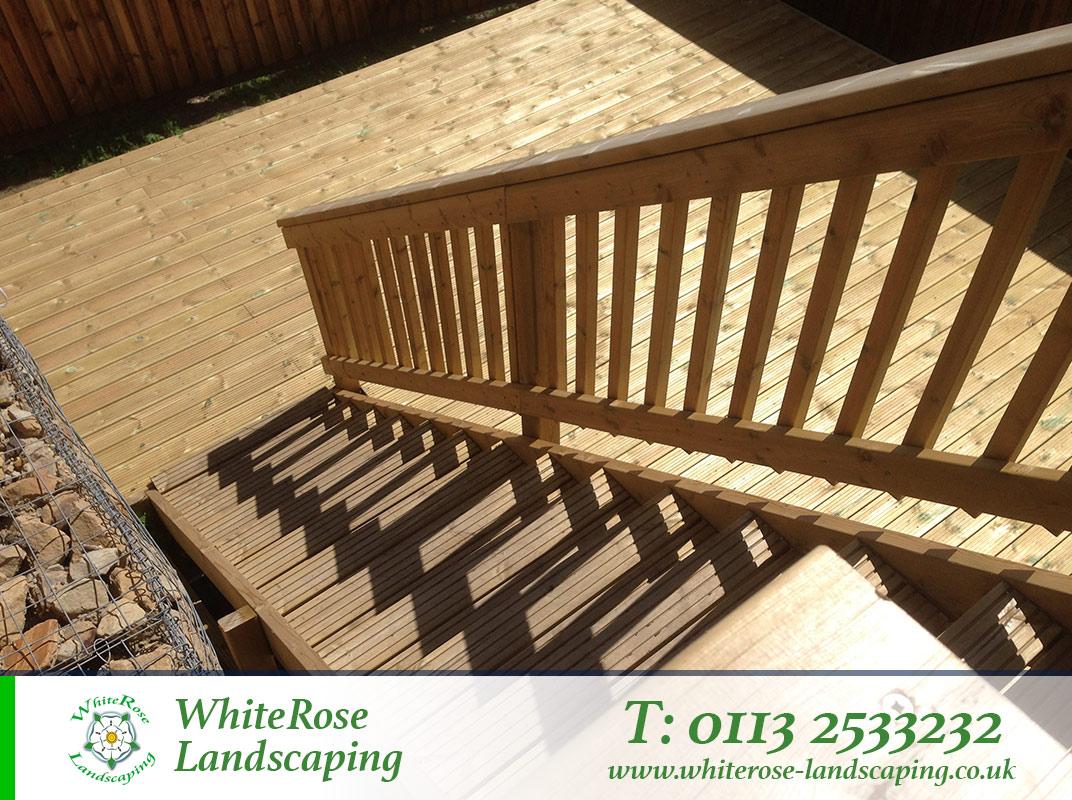 Whiterose Landscaping stunning garden decking specialists in Morley Leeds