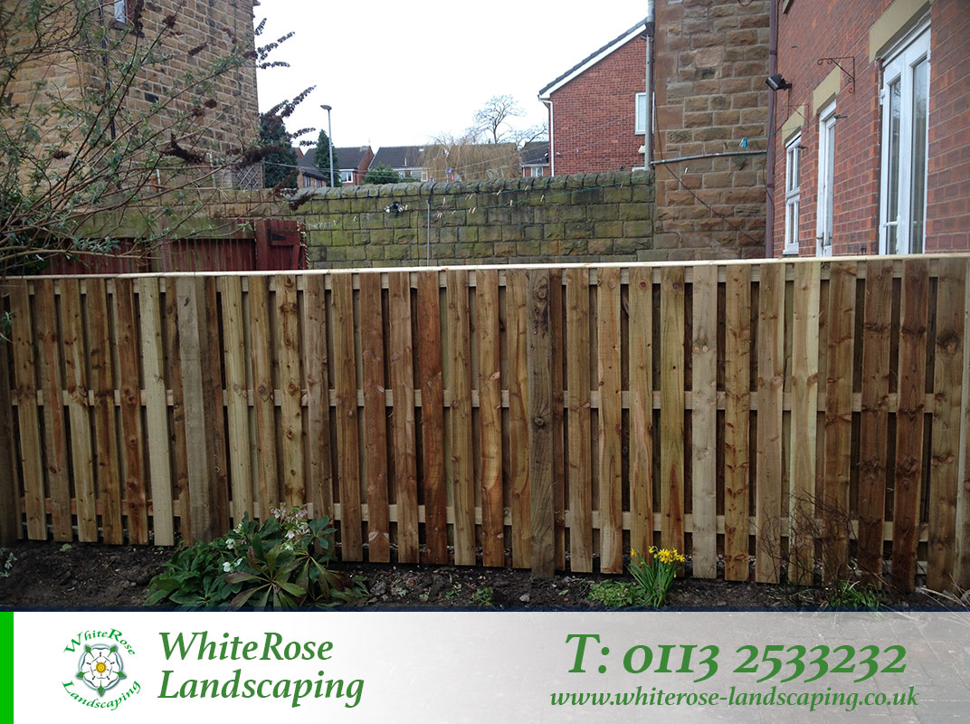Whiterose Landscaping brilliant garden fencing specialists in Morley