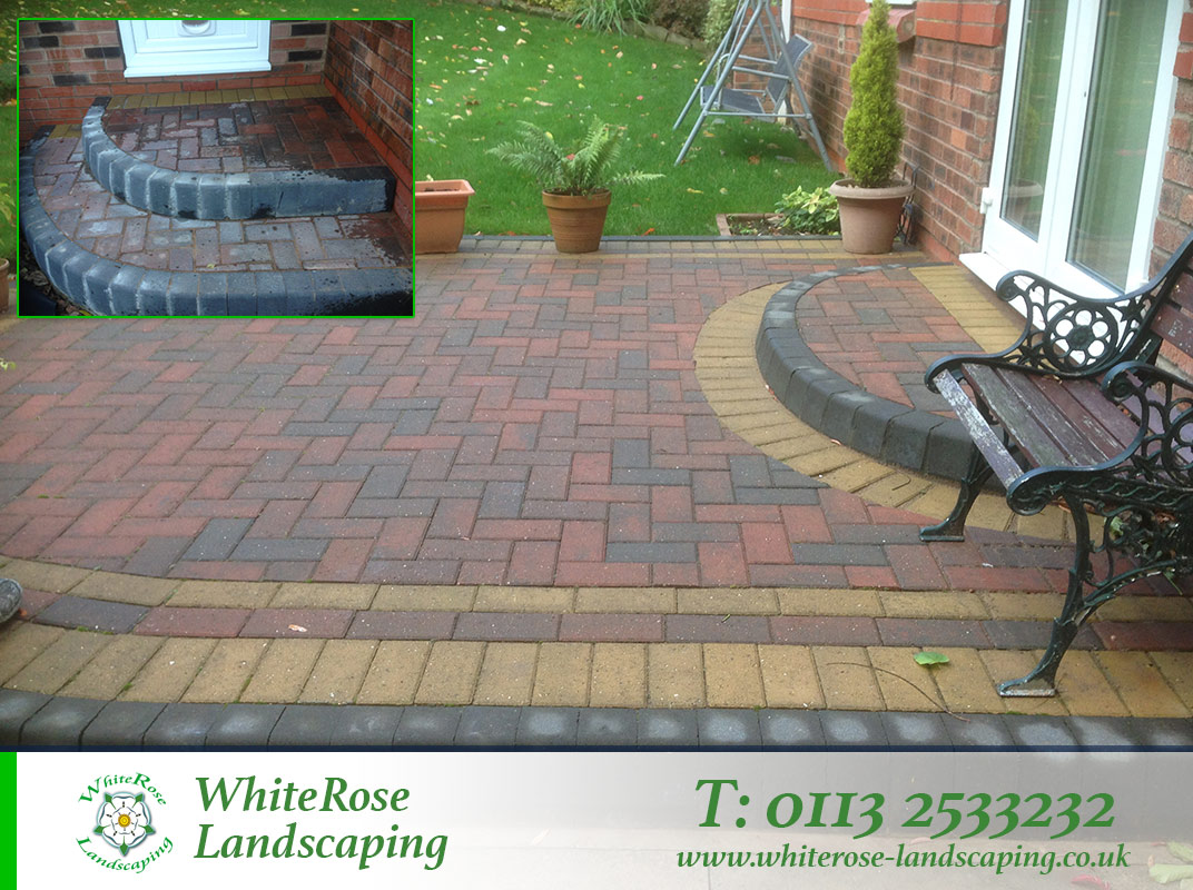 Whiterose Landscaping for stunning block paving and steps in Morley