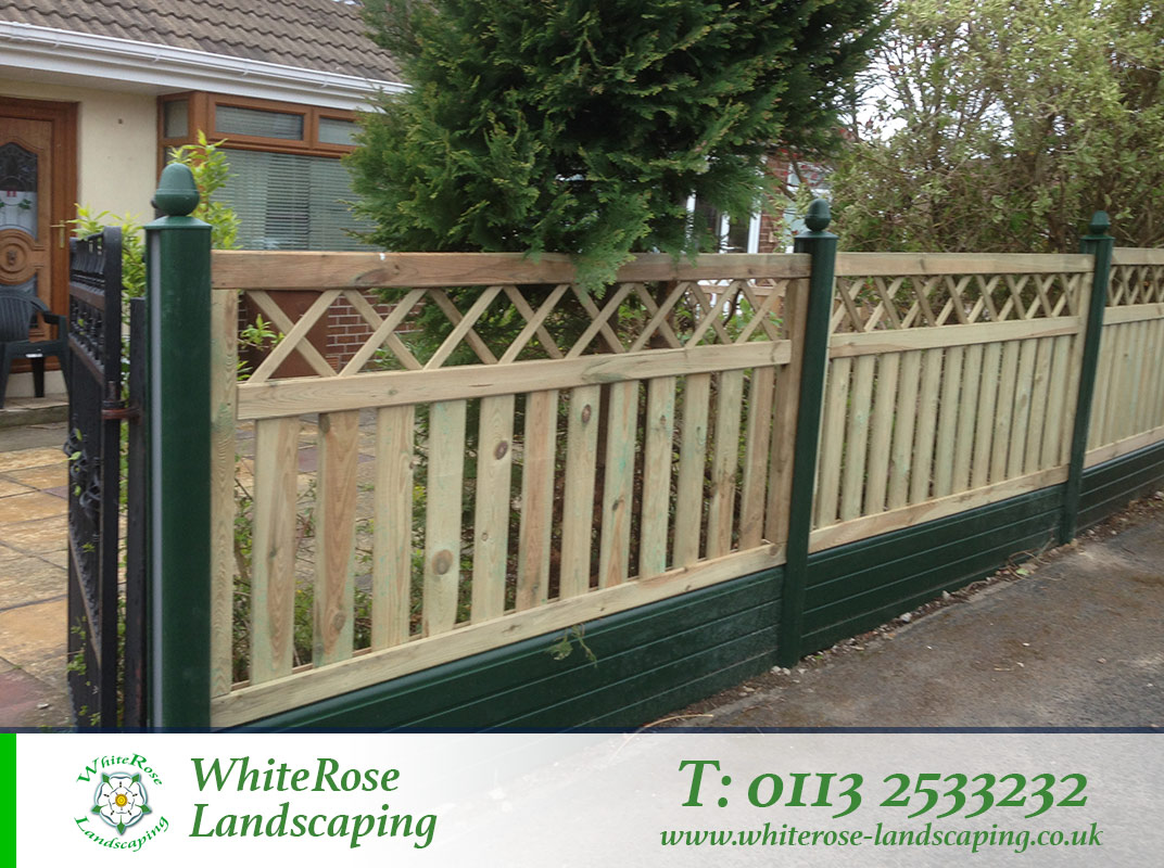 Whiterose Landscaping specialise in stunning garden fences Morley