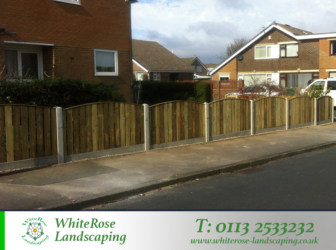 Whiterose Landscaping supply and fit weather ready garden fencing specialists in Morley